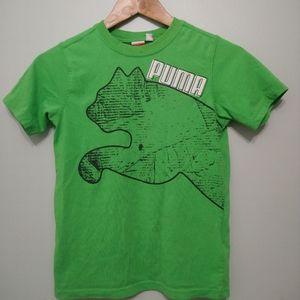 3/10$ PUMA boys Green graphic shirt